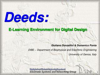 Deeds : E-Learning Environment for Digital Design