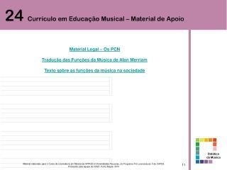 Material Legal – Os PCN Tradução das Funções da Música de Alan Merriam