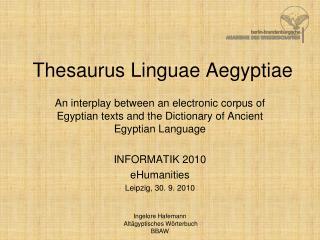 Thesaurus Linguae Aegyptiae