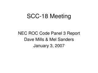 SCC-18 Meeting
