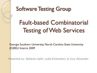 Software Testing Group