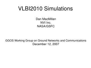VLBI2010 Simulations