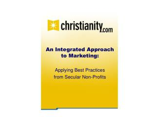 An Integrated Approach to Marketing: