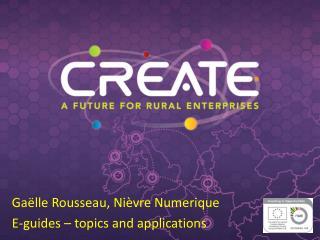 Gaëlle Rousseau, Nièvre Numerique E-guides – topics and applications