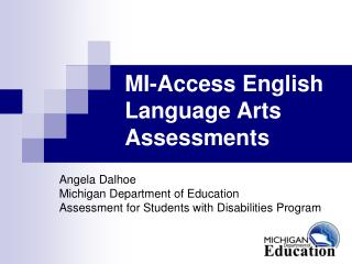 MI-Access English Language Arts Assessments