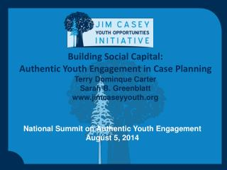 National Summit on Authentic Youth Engagement  August 5, 2014