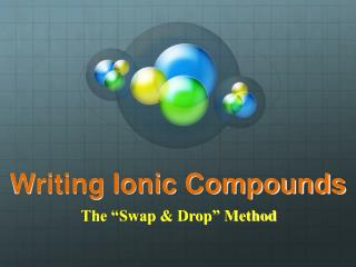 Writing Ionic Compounds