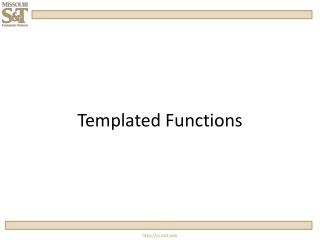 Templated  Functions