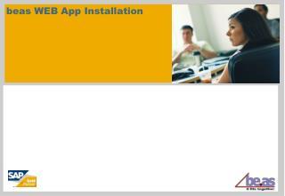 beas WEB App Installation
