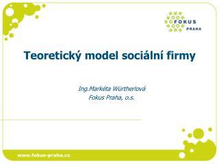 Teoretický model sociální firmy