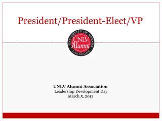 President/President-Elect/VP