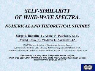 SELF-SIMILARITY OF WIND-WAVE SPECTRA.   NUMERICAL AND THEORETICAL STUDIES