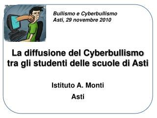 La diffusione del Cyberbullismo tra gli studenti delle scuole di Asti