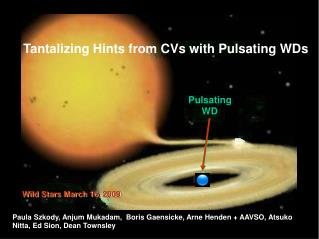 Tantalizing Hints from CVs with Pulsating WDs