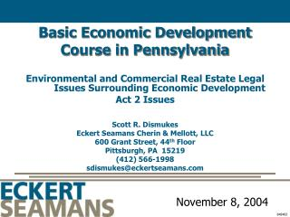 Basic Economic Development Course in Pennsylvania