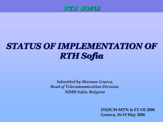 RTH SOFIA