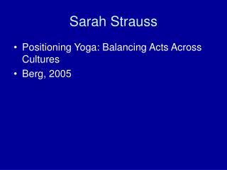 Sarah Strauss