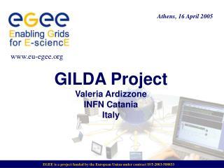 GILDA Project  Valeria Ardizzone INFN Catania Italy