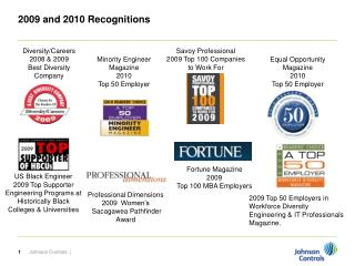 2009 and 2010 Recognitions