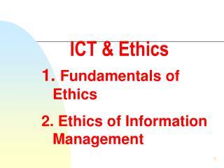 ICT & Ethics