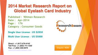 Global Eyelash Card Market Size, Share, Study, Forecast 2014