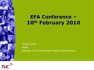 EFA Conference  –  10 th  February 2010