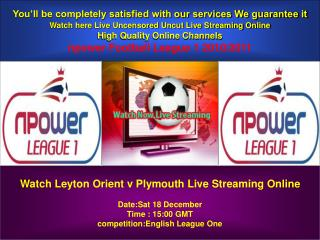 Leyton Orient v Plymouth Live Online English League One