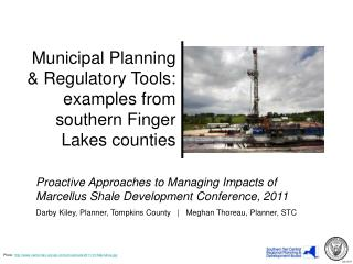 Municipal Planning  Regulatory Tools: examples from southern Finger Lakes counties