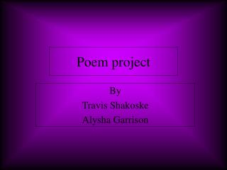 Poem project