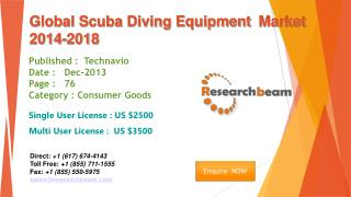 Global Scuba Diving Equipment Market Size, Share 2014-2018