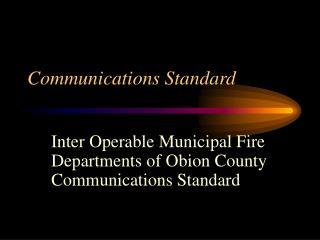 Communications Standard
