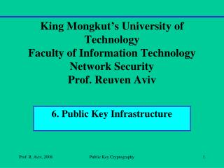 6. Public Key Infrastructure