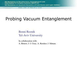 Probing Vacuum Entanglement
