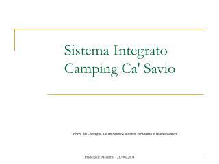 Sistema Integrato Camping Ca' Savio