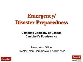 Emergency/ Disaster Preparedness