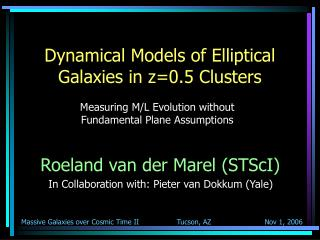 Dynamical Models of Elliptical Galaxies in z=0.5 Clusters
