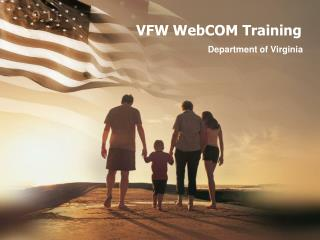 VFW WebCOM Training