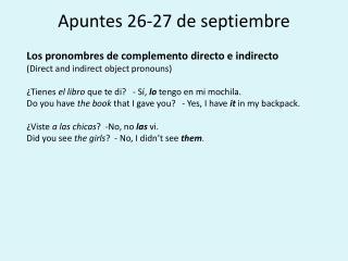 Apuntes 26-27 de septiembre