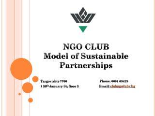 NGO CLUB Model of Sustainable Partnerships