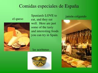 Comidas especiales de Espa � a