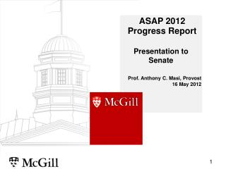 ASAP 2012   Progress Report
