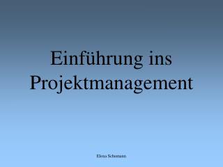 Einf hrung ins Projektmanagement