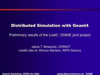 Distributed Simulation with Geant4