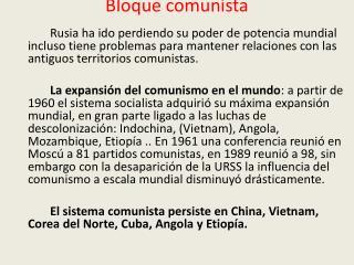 Bloque comunista