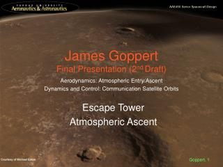 James Goppert Final Presentation (2 nd  Draft)