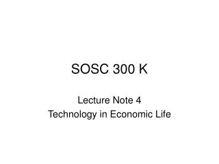 SOSC 300 K
