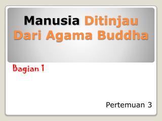 Manusia  Ditinjau Dari Agama Buddha