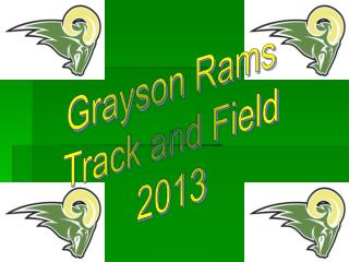 Grayson Rams Track and Field 2013