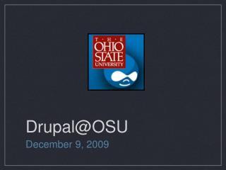 Drupal@OSU