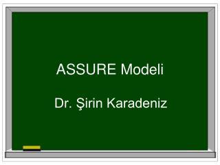 ASSURE Modeli